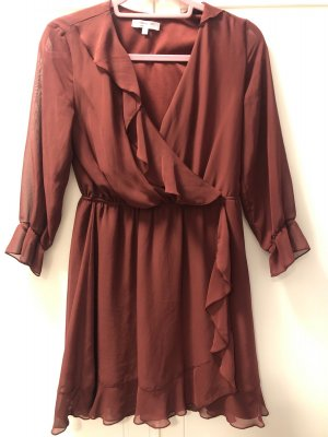 Clockhouse Volante jurk bordeaux-roodbruin