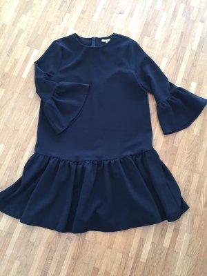 Ganni Vestido estilo flounce negro