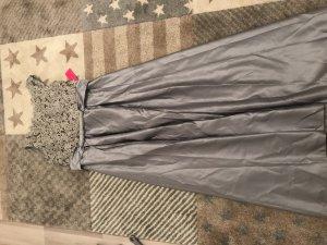 Chiffon jurk zilver-lichtgrijs