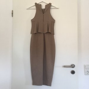 Asos Robe crayon gris brun