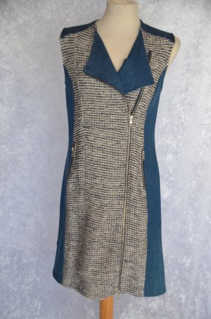 Best Connections Dress oatmeal-blue mixture fibre