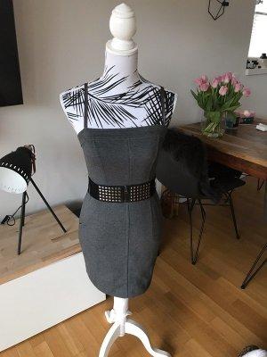 Guess Falda estilo lápiz gris antracita-negro tejido mezclado