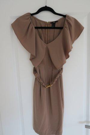 Tolles Kleid von H&M in camel / karamell mit Gürtel Gr. 36