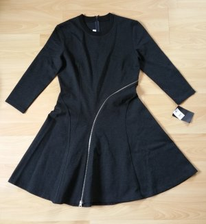 Alexander McQueen Dress anthracite mixture fibre
