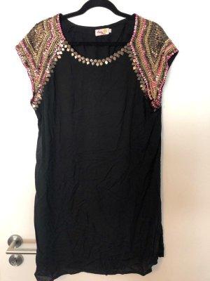tolles Kleid von Salty Skin schwarz Pailetten Gr. L