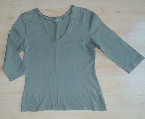 V-hals shirt khaki