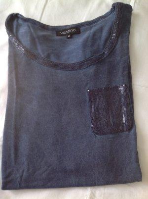 Tolles Langarm-Shirt mit Glitzerapplikationen - wie neu!