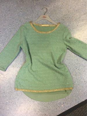 Camisa verde grisáceo-menta