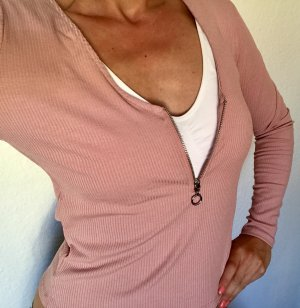 H&M Divided Ribbed Shirt dusky pink