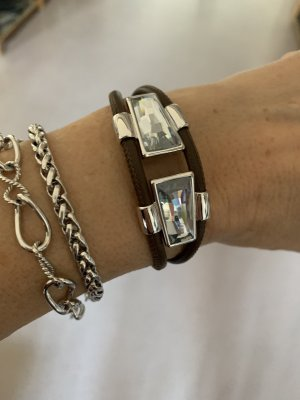 Pierre Lang Armband wit-bruin