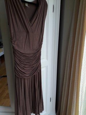 Midi-jurk lichtbruin