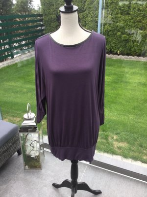 100% Fashion Long Shirt brown violet-blackberry-red