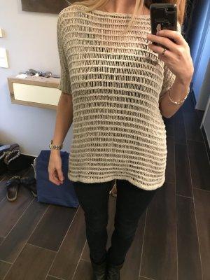 Malvin Top en maille crochet brun sable-crème