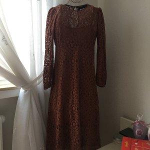Zara Woman Robe en dentelle rouille