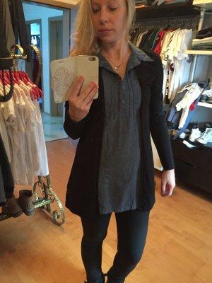 Tolles Mini Kleid, Longshirt, Marke: Tom Tailor, Farbe: Jeans/schwarz