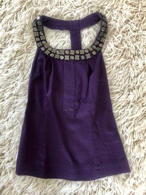Vero Moda Halter Top silver-colored-dark violet