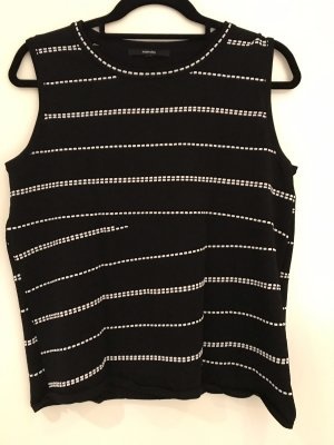 someday Knitted Top black-white