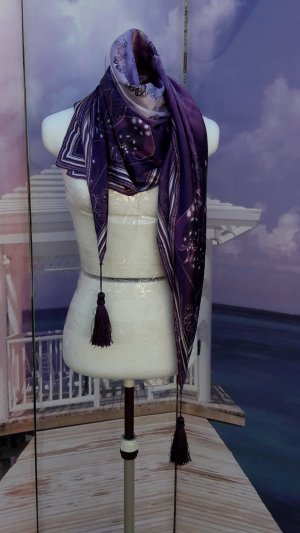 Tolles Quadratisches Tuch lila/altrosa