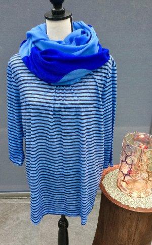 100% Fashion Gestreept shirt azuur-donkerblauw