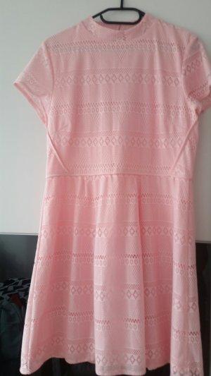 Amisu Mini-jurk lichtroze Katoen