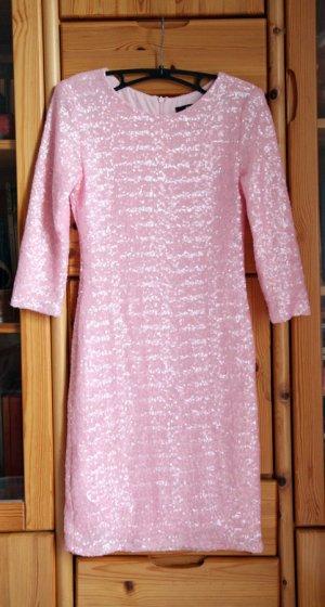 tolles rosa Paillettenkleid