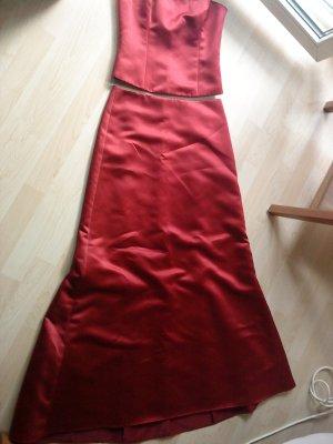 tolles  rotes 2-teiliges Abendkleid von Zero Größe 34