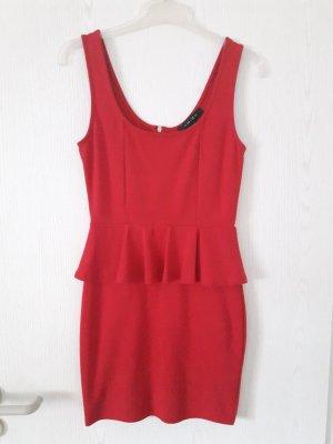 Peplum Dress red