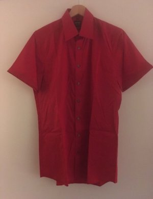 Olymp Chemise à manches courtes rouge