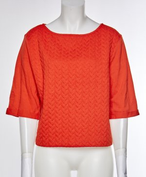 H&M Short Sleeve Sweater red cotton