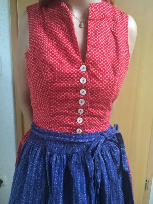 Dirndl red-dark blue