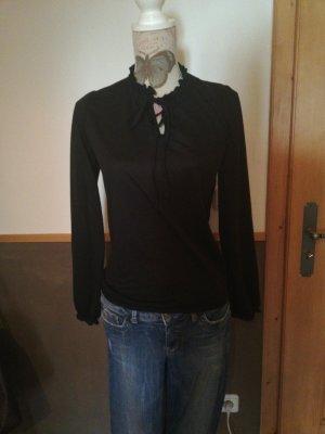 tolles Rüschen Shirt Gr. 38 schwarz