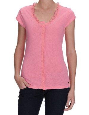 Vero Moda Top a balze rosa Cotone