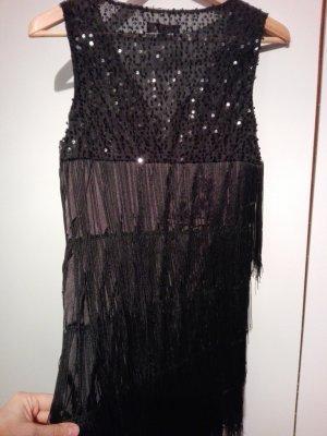 Fionella Vestido con flecos negro