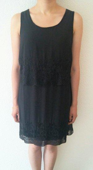 tolles schwarzes Kleid mit Perlenstickerei von Vero Moda