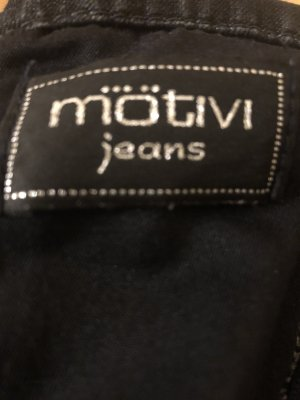 Tolles, schwarzes, kurzes Jeanskleid in schwarz, Gr. 34