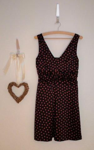 Tolles schwarzes Satin Kleid mit roten Punkten von Selection s.Oliver