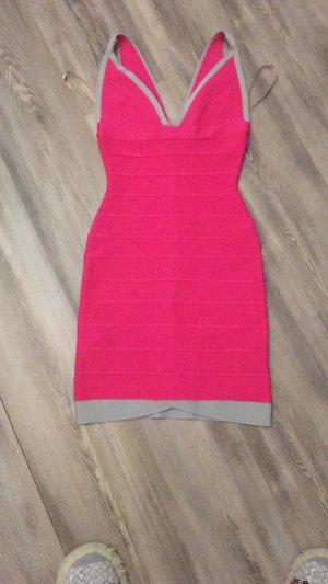 Tolles sexy Kleid von Herve Leger in pink XXS