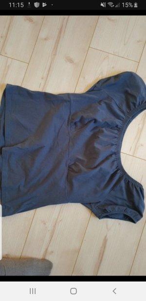 Cropped shirt donkerblauw