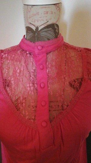 Mango Suit Lace Top pink