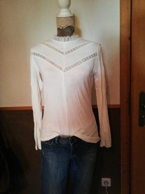tolles Shirt Reserved Gr. M weiß mit Spitze