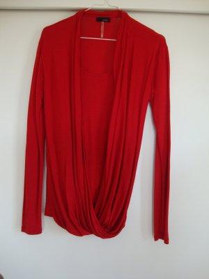 Cinque Camisa cruzada rojo oscuro lyocell