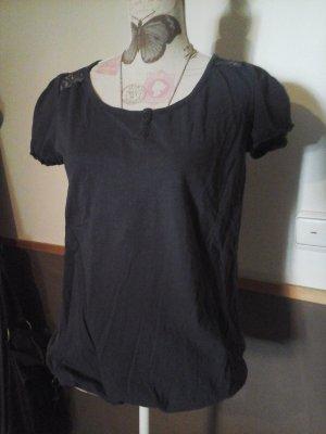 tolles Shirt Tom Tailor Denim Gr. M dunkelblau mit spitze