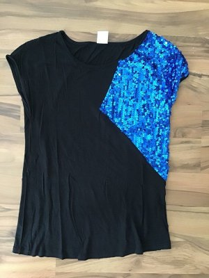tolles Shirt Vero Moda blau mit Pailetten Gr. M