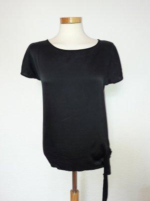 Tolles Shirt von Hallhuber Seide Gr. 36 schwarz