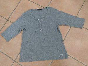 Jette Joop Ribbed Shirt silver-colored cotton