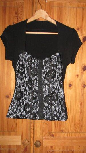 Tolles Shirt von Orsay mit Corsage und Spitze – Gr. 38