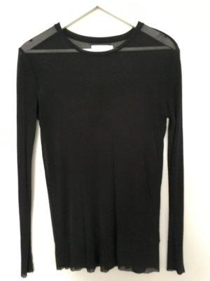 Tolles Shirt von Weekday schwarz transparent Seide S