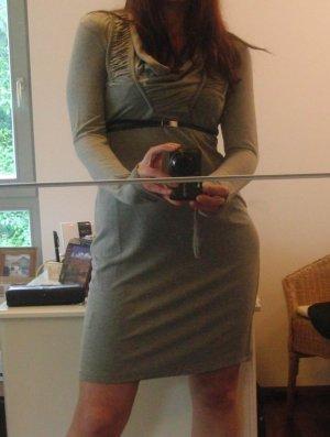 Tolles Shirtkleid von ASHLEY BROOKE, grau, Langarm, Gr. 34 (36)