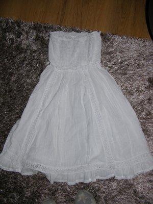 Tolles Sommer Bandeau Kleid von Heine in Weiß Gr XS
