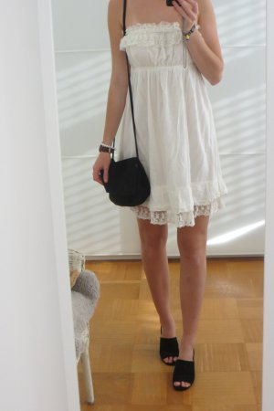 Zara Trafaluc Abito a fascia crema-bianco